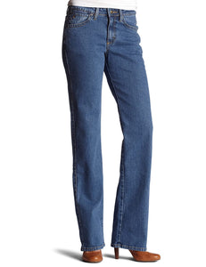Wrangler Women's Aura Regular Rise Stone wash Stretch Denim with Embroidered Pocket