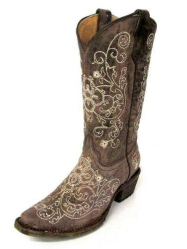 Corral Kids Embroidered Boot - A1119