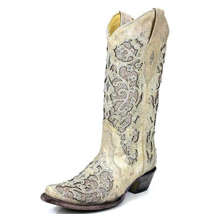 Corral Women's Glitter and Crystal Inlay Boots - A3322