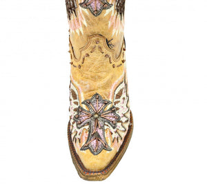 Women's Corral Sand Fish Wings & Cross Inlay - A3494