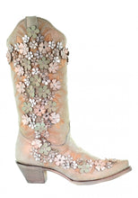 Women's Corral Floral & Stud Boot - 3599