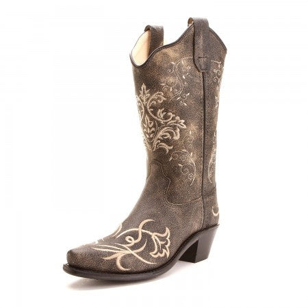 Old West Embroidered Girls Boots - CF8222