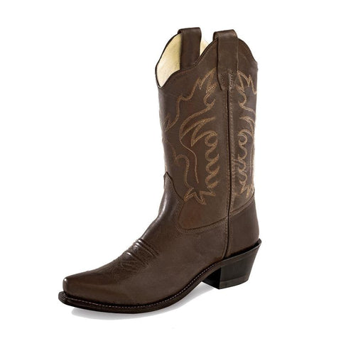 Old West Chocolate Snip Toe Boot - CF8234(y)