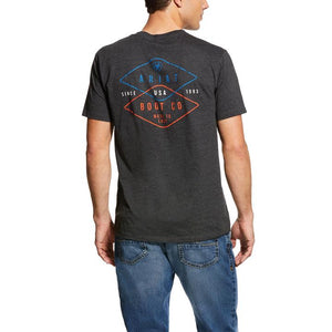 Ariat® Men's Charcoal Grey Overlap USA Short Sleeve T-Shirt