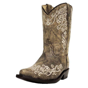Corral Kids Embroidered Boot - G1323