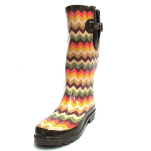 M&F Ladies Leanna Chevron Rain Boot - 58112