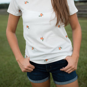 Lana Floral Embroidered Tee
