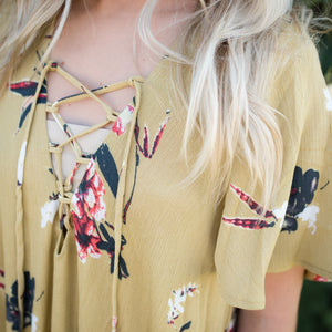 Mae Yellow Floral Dress