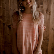Kinsley Peach Stripe Tee