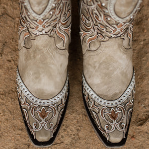 Corral Bone & Embroidery Ladies Boot