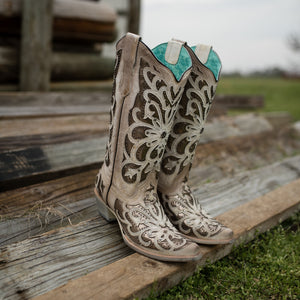 Corral Women's Metallic Inlay Boot
