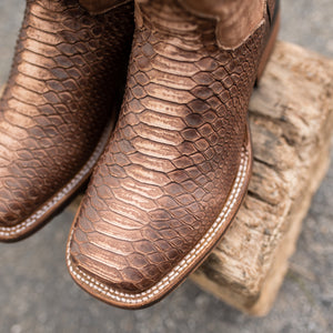 Men's Dan Post Saddle Faux Python  - DP4526