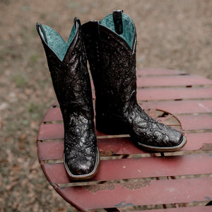 Women's Corral Black & Gray Inlay Boot C3404
