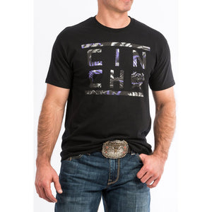 Cinch Black and Purple Logo T-Shirt