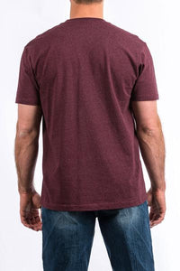 Men's Short Sleeve Logo T-Shirt Burgundy