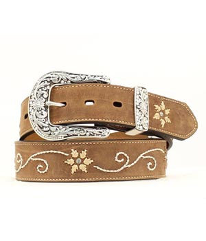 M & F Nocona Ladies Floral Belt