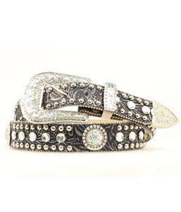 M & F Blazin Roxx Ladies Rhinestone Belt