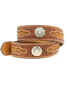 Nocona Kids Embossed Concho Belt