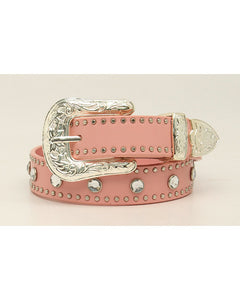 Nocona Kids Pink Crystal Belt