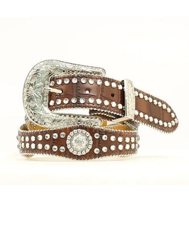 Nocona Brown Scalloped Belt
