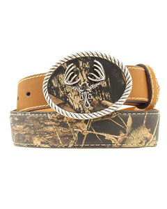 Nocona Kids Deer Skull Belt