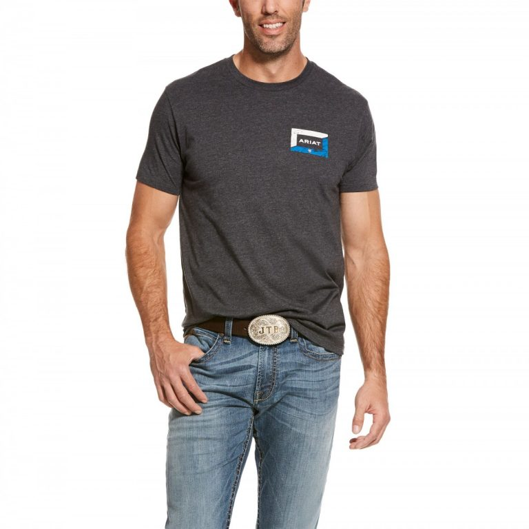 Men's Ariat Veneer Charcoal Short Sleeve T-Shirt