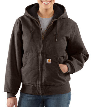 Carhartt Ladies Chocolate Sandstone Jacket - WJ130