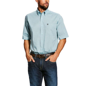 Ariat Men's Edlin White Short Sleeve Stretch Shirt