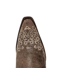 Corral Brown Crater Bone Embroidery Boot - A1094