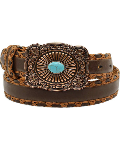 Ariat Cross Stitch Turquoise Belt