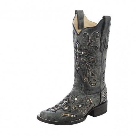 Corral Sequin Cross Boots - A3128