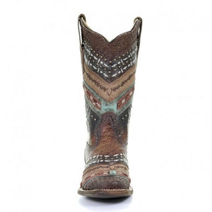 Women's Corral Antonia Boho Square Toe Boot - 3424