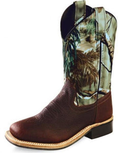 Old West Kids Camo Boots - 1816
