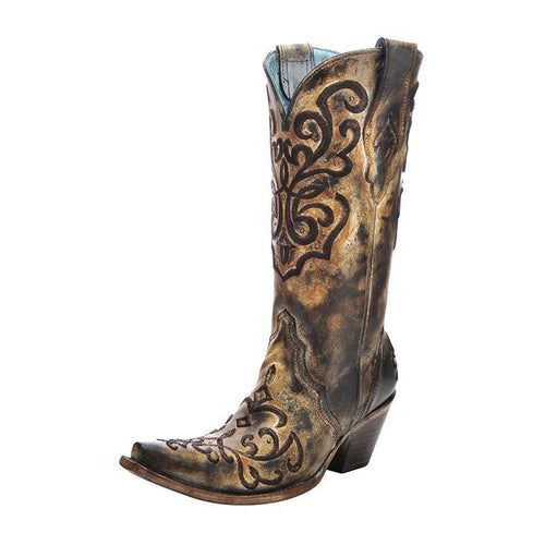 Women's Corral Cord Stitch Boots - C3009