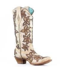 Corral Women's Bone Overlay Boots