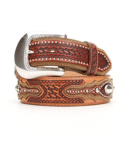 Tony Lama Men's Tan Classic Country Belt - C41804