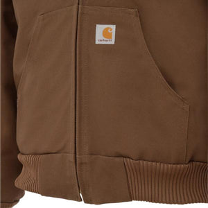 DUCK QUILTED FLANNEL-LINED ACTIVE JAC - Coffee - J140