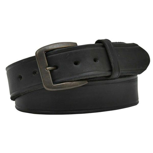 Men's Latigo Creased Black Leather Belt - D1140