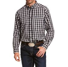 Ariat Men's Black Plaid Long Sleeve Western Shirt