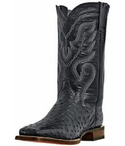 Dan Post Black Full Quill Ostrich - DP2980