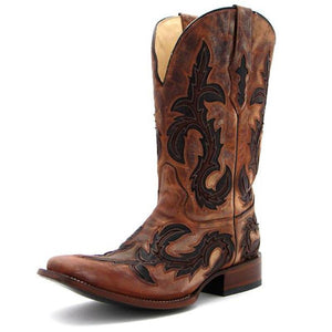 Corral Men's Chocolate Square Toe- G1137