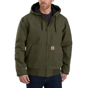 Carhartt WASHED DUCK INSULATED ACTIVE JAC - Moss - 104050
