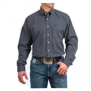 Cinch Men's Navy Circle Pattern Western Shirt