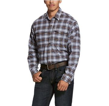Ariat® Men's Rebar Flannel DuraStretch Wildcat Plaid Work Shirt