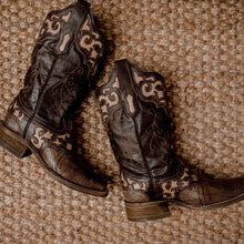 Women's Corral Lizard Inlay Western Boot - A3730