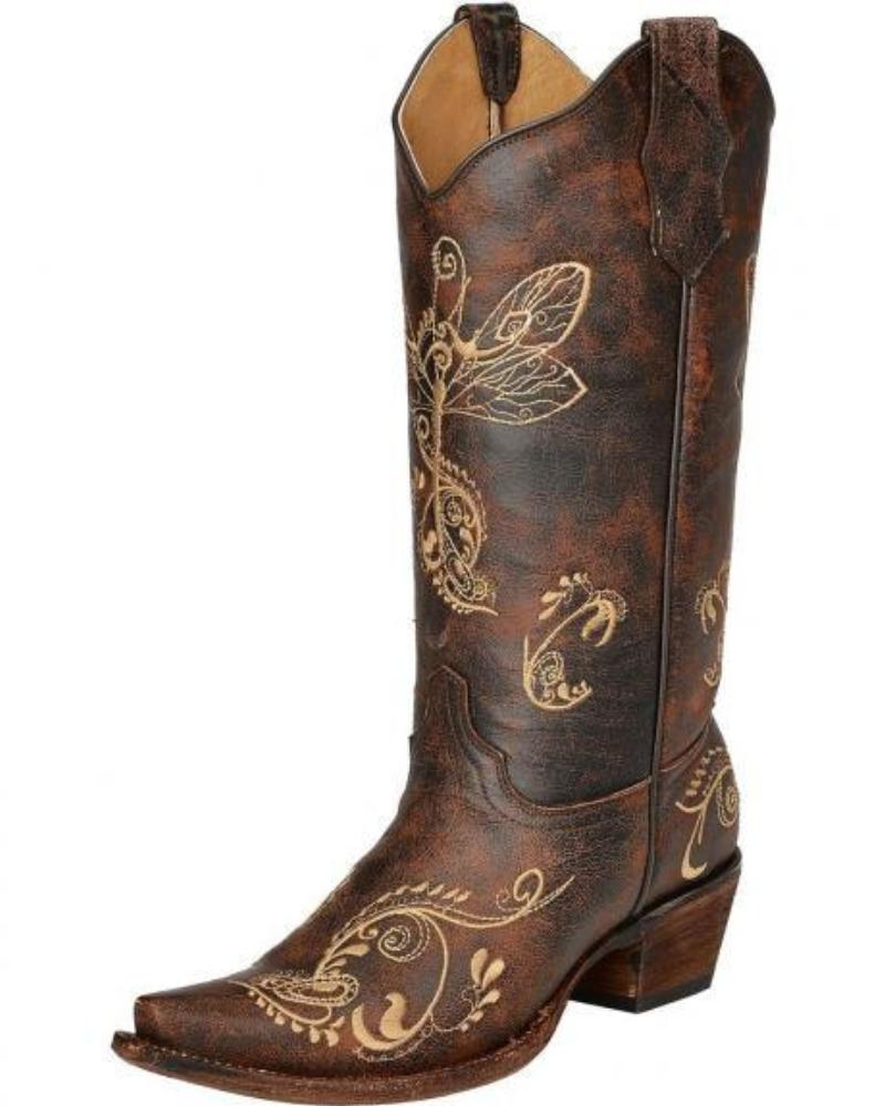 Women's Circle G Embroidered Boot - L5001