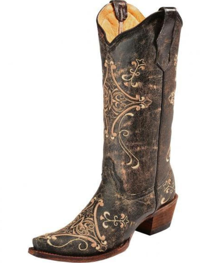 Women's Circle G Embroidered Boots - L5048