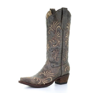 Women's Circle G Distressed Filigree Boots - L5133