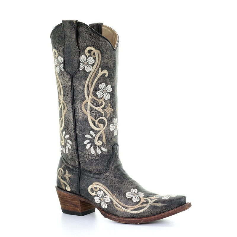 Women's Circle G Floral Embroidered Boot - L5175
