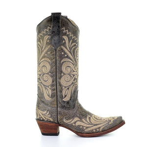 Circle G Distressed Embroidered Scroll Boots